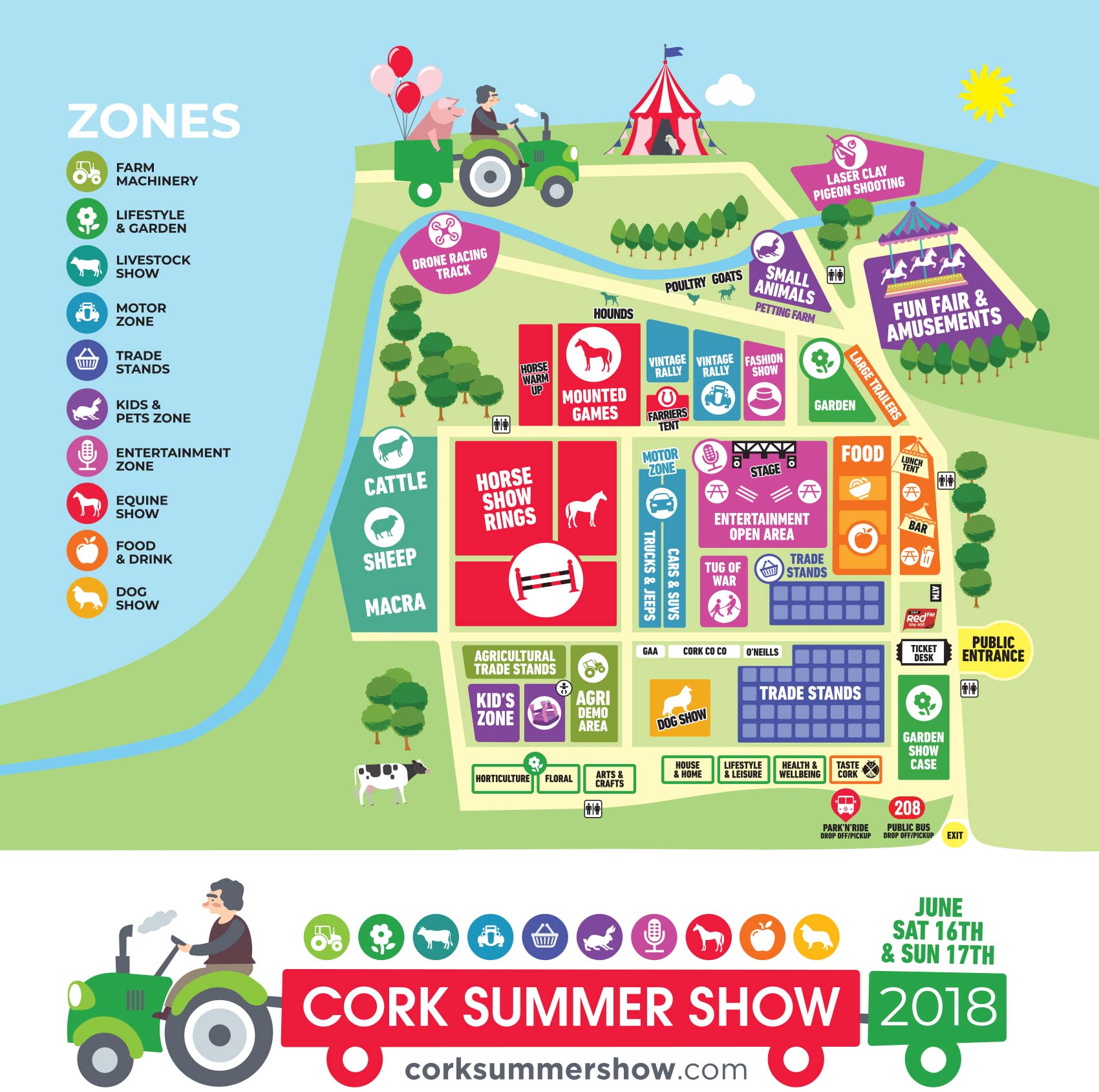 Site Map 2018: Cork Show Map Summer Agri Show Maps Cork